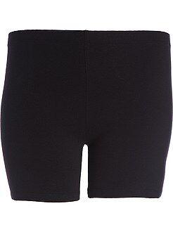 Calças curtas, calções - Calções em twill de algodão elástico