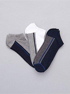 Meias - 3 pares de meias invisíveis para desporto - Kiabi