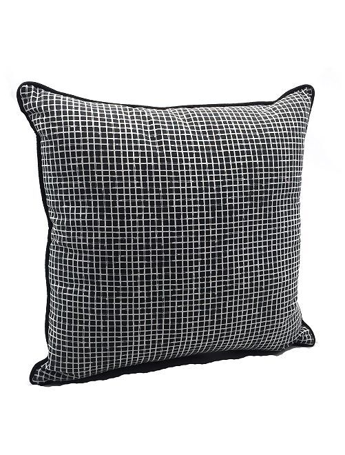Almofada com quadrados pequenos                             Preto/ Branco
