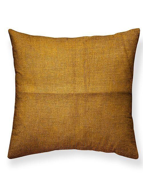 Almofada quadrada com efeito tecido                                                     Bronze