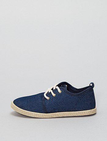 Calçado - Alpargatas em material têxtil estilo ténis - Kiabi