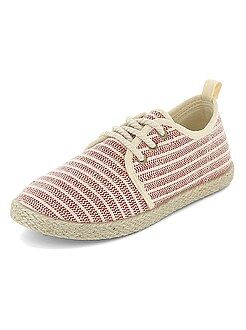 Alpargatas em material têxtil estilo ténis - Kiabi