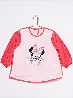 Babetes para bebé - Avental 'Minnie' em esponja