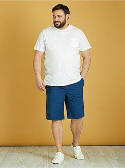 Bermudas, calções - Bermudas chino estampada de sarja leve - Kiabi