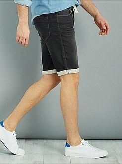 Denim - Bermudas de jogging de ganga!