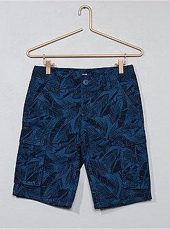 Bermudas, calções - Bermudas de sarja estampadas - Kiabi