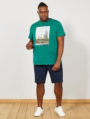 dd0f6478cf Homem tamanhos grandes - Bermudas regulares em oxford - Kiabi
