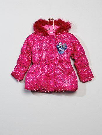 Blusão de penas com capuz 'Minnie' - Kiabi