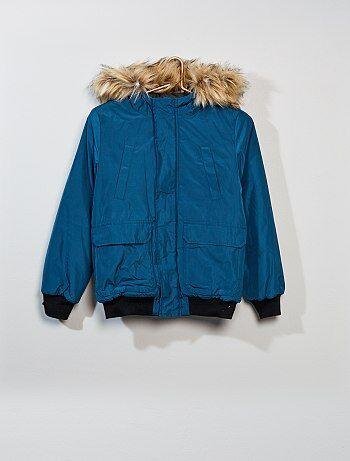 Blusão estilo 'Piloto' com capuz - Kiabi