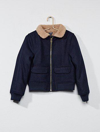 Blusão forrado tipo lã - Kiabi