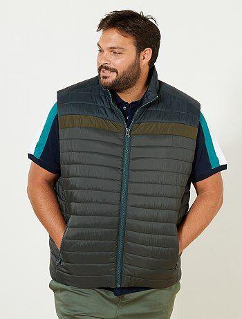 Homem tamanhos grandes - Blusão leve sem mangas - Kiabi
