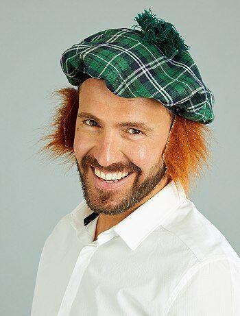 Homem - Boina escocesa com peruca incorporada - Kiabi