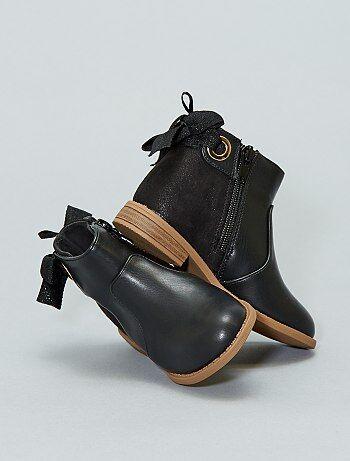Calçado - Botas bicolores - Kiabi