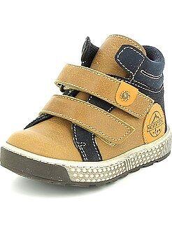 Sapatos bebé - Botas de pele com velcro