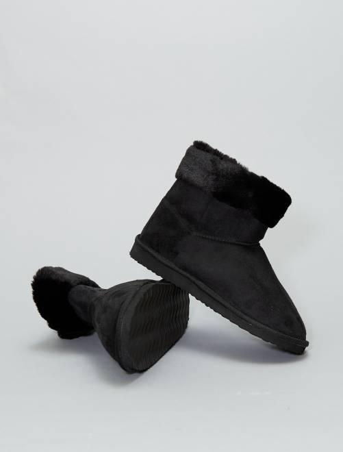 Botas forradas                                         Preto Calçado