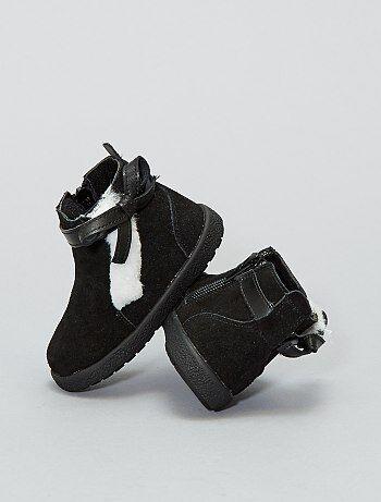 Botas subidas de pele - Kiabi