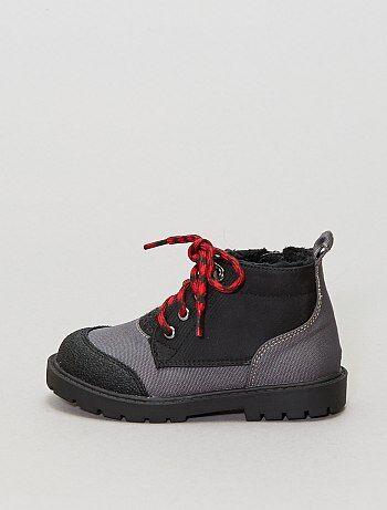 Botas subidas em material têxtil - Kiabi