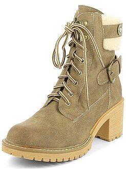 Calçado marrom - Botins tipo sapatos de montanha