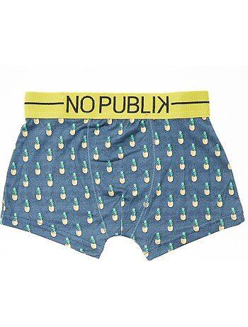 Boxers com estampado ananás 'No Publik' - Kiabi