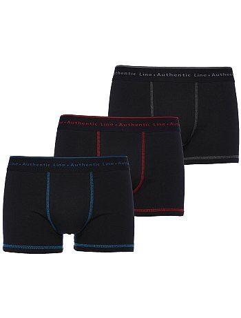 Boxers em algodão por lote de 3 tamanho grande - Kiabi