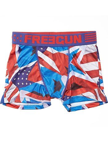 Boxers 'Freegun' com estampado 'bandeira americana' - Kiabi