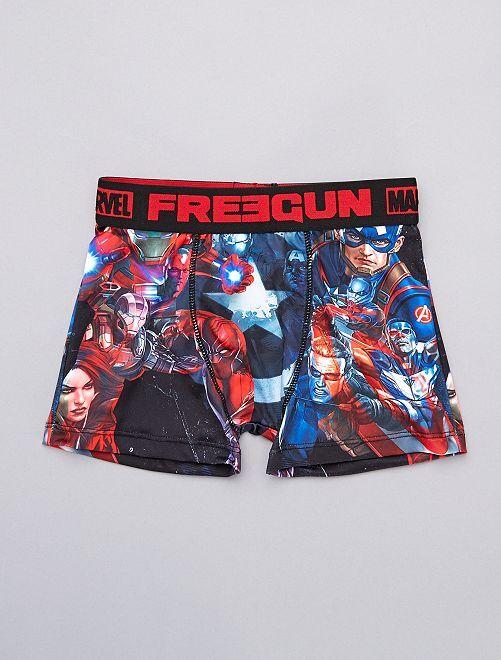 Boxers 'Freegun' 'Vingadores' estampados                             Preto