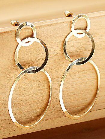 Brincos pendentes 3 argolas - Kiabi