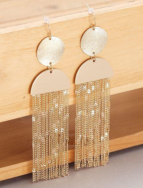 Brincos pendentes dourados                             Dourado