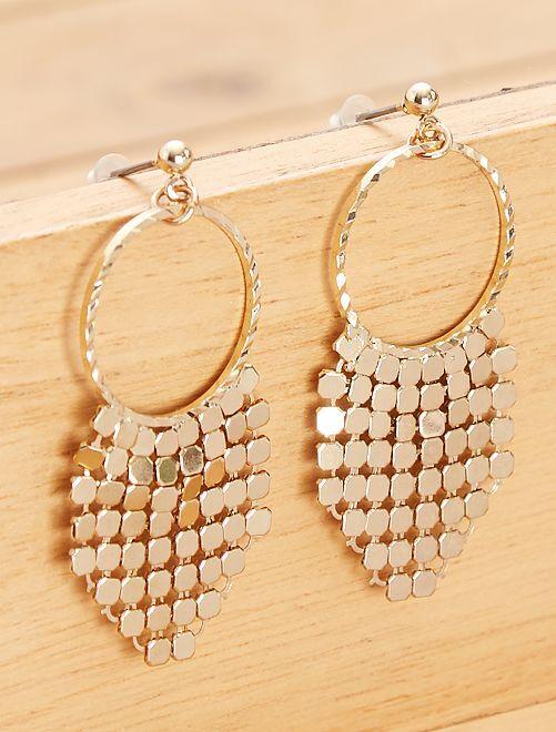 Brincos pendentes dourados                             Dourado Mulher do 34 até 48
