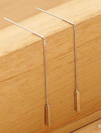 Brincos pendentes metálicos - Kiabi