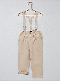Calças, jeans, leggings - Calças chino com alças - Kiabi