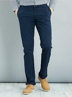 Homem com mais de 1,90m de altura - Calças chino de corte direito L38 +1m90 - Kiabi