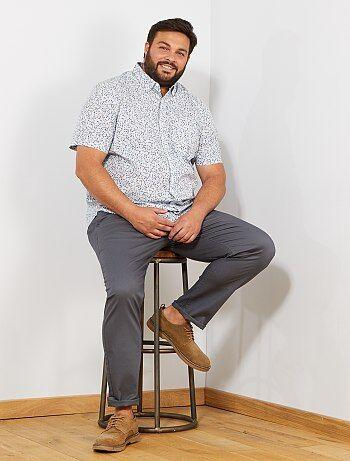 Homem tamanhos grandes - Calças chino regulares em oxford - Kiabi