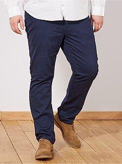 Calças casuais - Calças conforto em gabardine