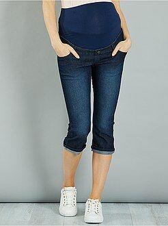 Futura mamã - Calças curtas corte slim de gravidez - Kiabi