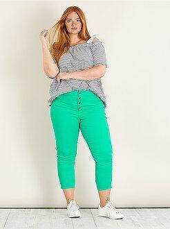 Calças curtas, calções - Calças curtas slim com 4 botões - Kiabi