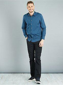 Homem com mais de 1,90m de altura - Calças de corte direito em sarja L36 +1m90 - Kiabi
