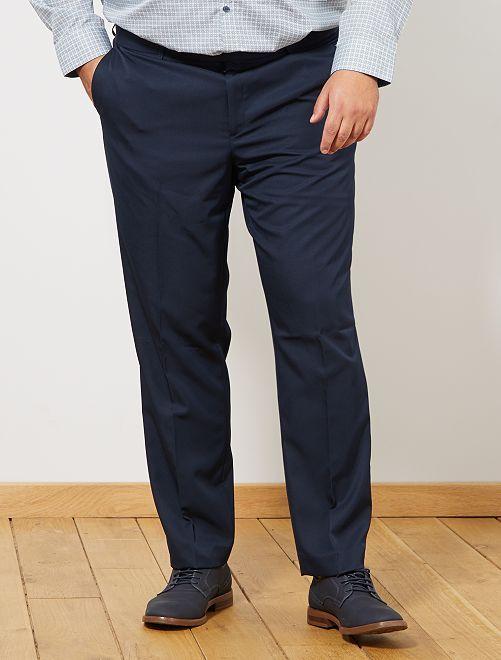 Calças de fato com corte reto                                         Azul Naval Homem tamanhos grandes