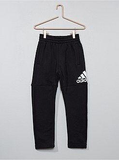 Calças - Calças de fato de treino em moletão 'Adidas' - Kiabi