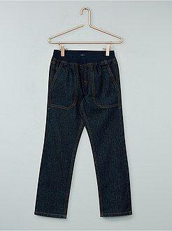 Jeans - Calças de ganga direitas e cintura elástica - Kiabi