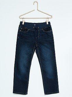Tamanho grande - Calças de ganga regulares com cintura elástica de tamanho grande
