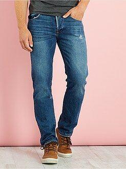 Jeans - Calças de ganga regulares com rasgões