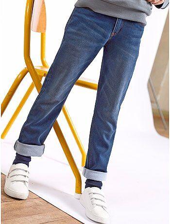 calças de ganga regulares de efeito deslavado - Kiabi