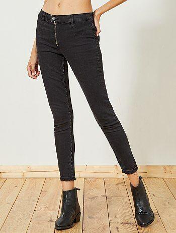 Calças de ganga skinny com cintura subida - Kiabi