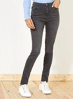 Mulher do 34 até 48 - Calças de ganga skinny com cintura super alta - Kiabi