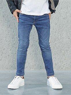 Jeans - Calças de ganga skinny com efeito desbotado - Kiabi