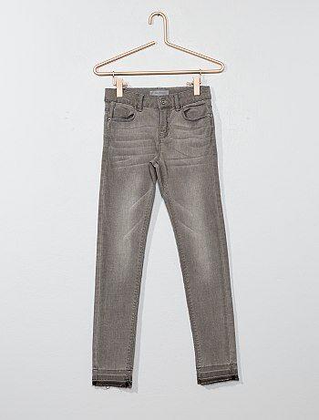 Calças de ganga skinny com efeito usado - Kiabi