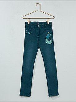 Jeans - Calças de ganga slim bordadas - Kiabi
