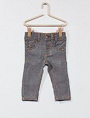 Calças de ganga slim com cintura ajustável