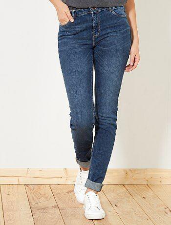 Calças de ganga slim com cintura subida - Kiabi
